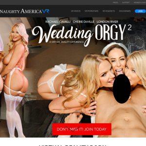 Naughty America VR homepage